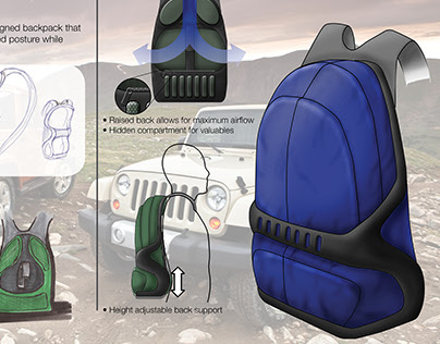 JEEP: Ergonomic Backpack