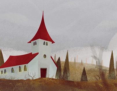 Foggy Church