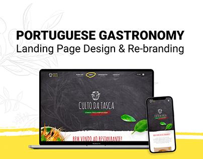 Portuguese Gastronomy Landing page