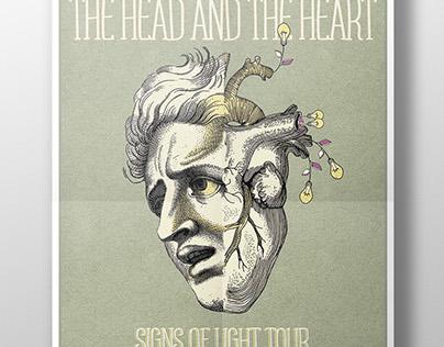Propuesta de cartel para The head and The heart.