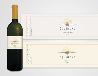 Equinoxe Wine Label 2009