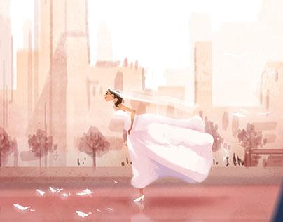 Runaway Bride Character Design