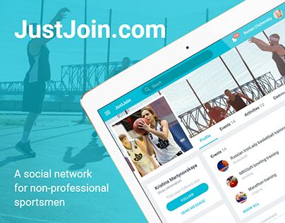 JustJoin — sport social network