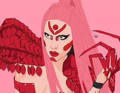 Lady Gaga eras' illustration