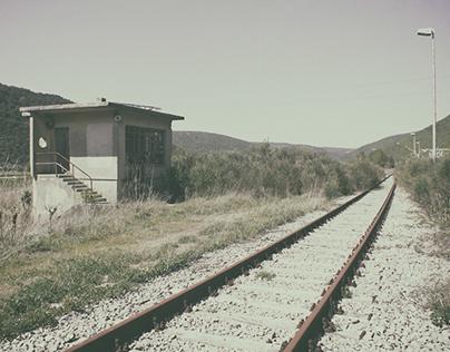 Abandoned railway line Lupoglav-Raša, Istra.