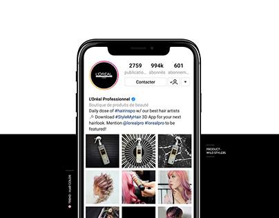 L'Oréal Pro - Social Media Instagram