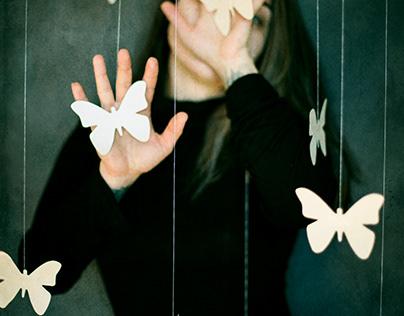 Paper butterflies | Self-portraits