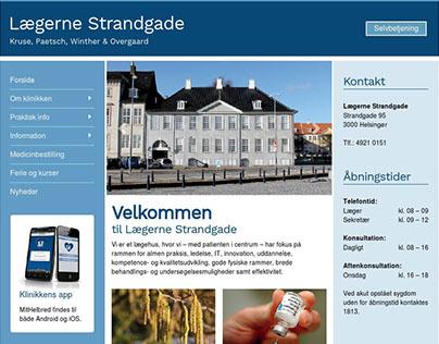 Lægerne Strandgade - Web design for Wordpress