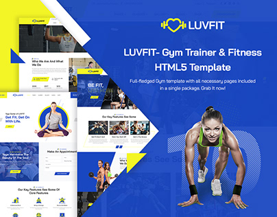 LUVFIT- Gym Trainer & Fitness HTML5 Template