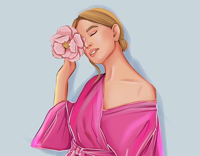 Illustrations for linen clothing brand