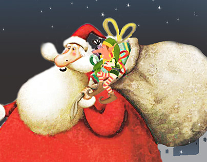 The Santa Claus is in a hurry