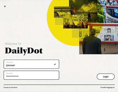 DailyDot - Login Form