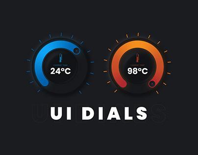 Circular Thermostat UI Dial Design - Tutorial