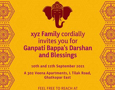 Ganpati Invitation Flyer