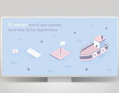 Campaña publicitaria e Ilustraciones corporativas