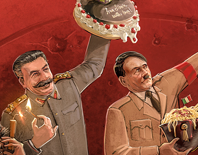 Dictators' Dinners Book Cover İllustration & Design