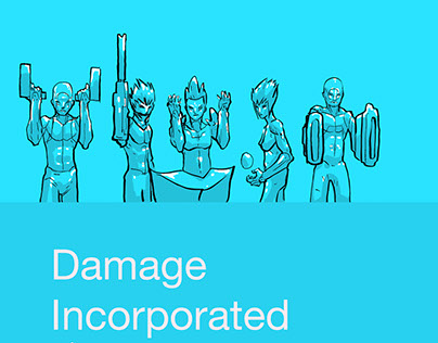 Damage Incorporated #1-4 Comic covers