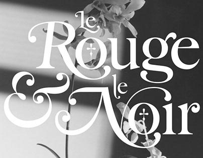Lettering Le Rouge et le Noir