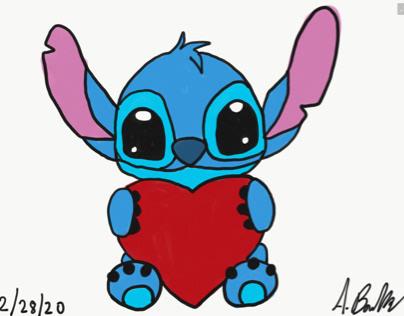 Stitch giving love