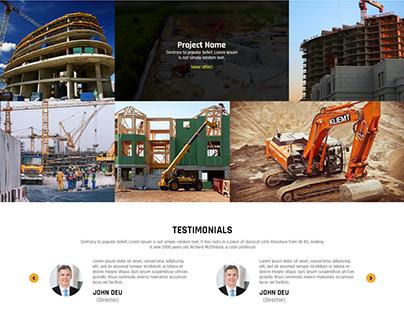 Contraction Company Mockup UI/UX Design