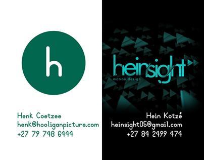 Hooligan Picture Creations / Heinsight Events Portfolio