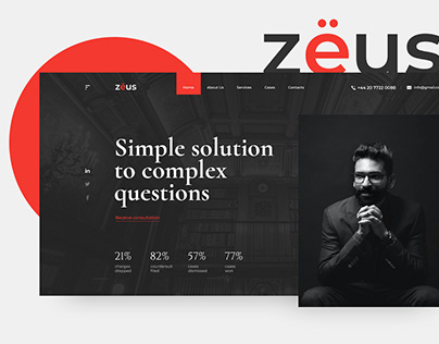ZEUS Law Firm | Website concept