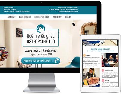 Site web de Noémie Guignet, Ostéopathe D.O. à Guérande