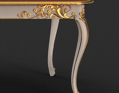 gilt dining table