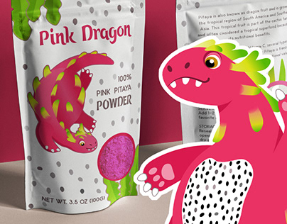 Dragonfruit - mascot and package concept