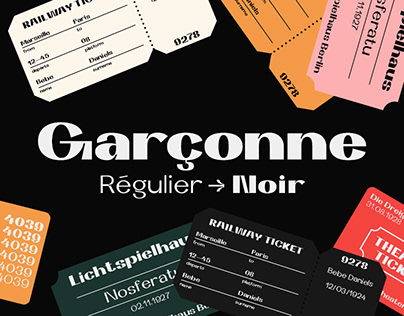 Garçonne Display Typeface