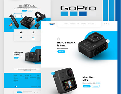 Gopro 8 and MAX landing page Redesign