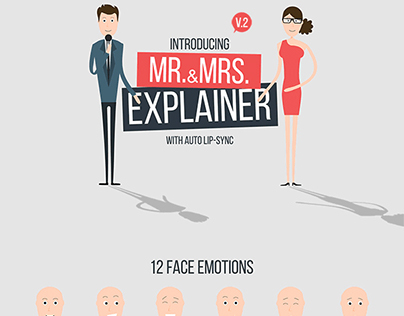 Character Design, Illustration  for videohive template.