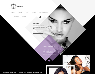 Creative mokeup of jewellery website