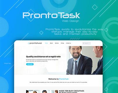 ProntoTask Web Design Project
