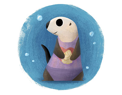 Otter with an oyster