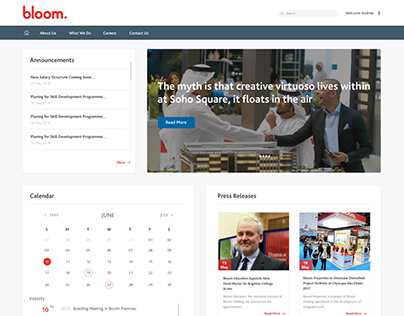 Bloom Intranet Site