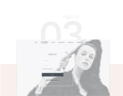 Web Design for a High-End Jewellery Brand