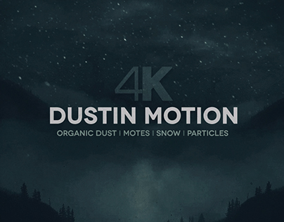 Dust in Motion 4K - Motes Particles Snow