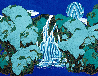   藍色の森   Illustration artwork