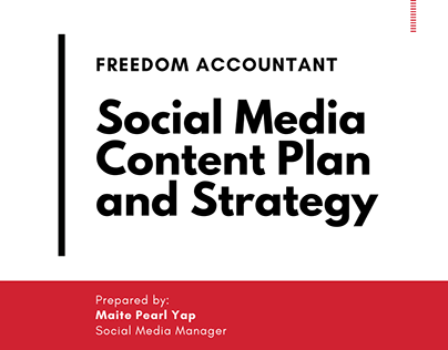 Freedom Accountant SM Content Plan and Strategy