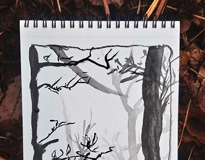 Ink Paintings 2018