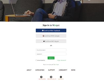 Meeyat Website Design