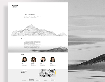 Nunatak Capital - webdesign by Playstop