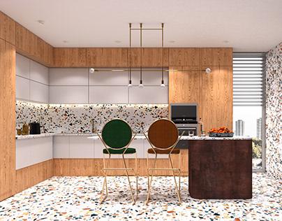 Terazzo kitchen - concept no 2