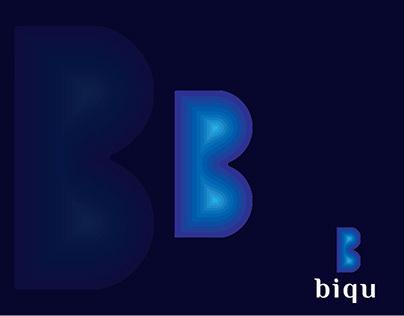 Biqu logo, B logo, b logo branding, b letter logo,