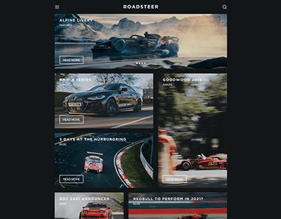 ROADSTEER Website Concept