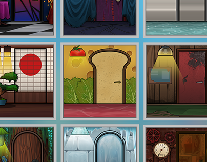 Rooms for Bear Stamp game