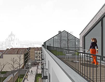 Mixed-use development. Competition entry. Lviv, Ukraine