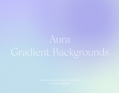 Aura Energy Gradient Backgrounds With Grain Texture PS