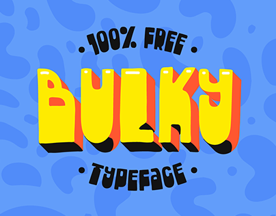 «Bulky» free typeface